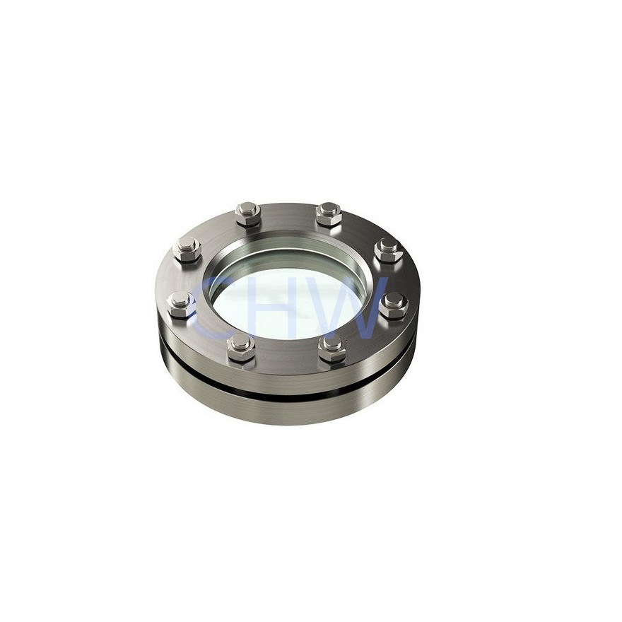 sanitary Stainless steel flanged sight glass 304 SS316L DIN SMS ISO 3A BPE IDF AS BS