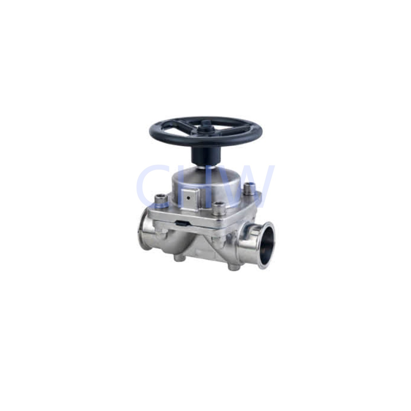 Sanitary stainless steel high quality Manualy Operated Diaphragm Vlave s s304 ss316L DIN SMS ISO 3A BPE IDF AS BS