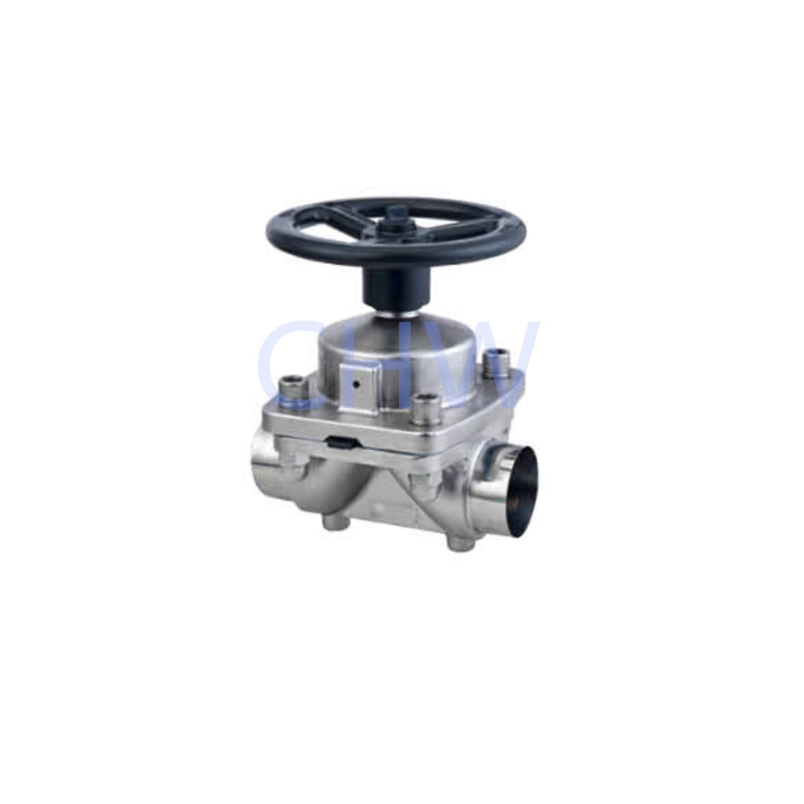 Sanitary stainless steel high quality Manual Welding Diaphragm Valve304 316L DIN SMS ISO 3A BPE IDF AS BS