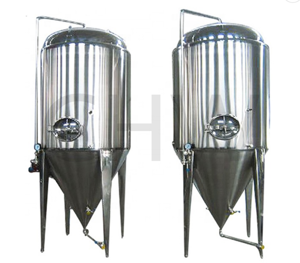 HIGH quality sanitary 1000 L refrigerated conical fermenter 1000l fermentation tanks size