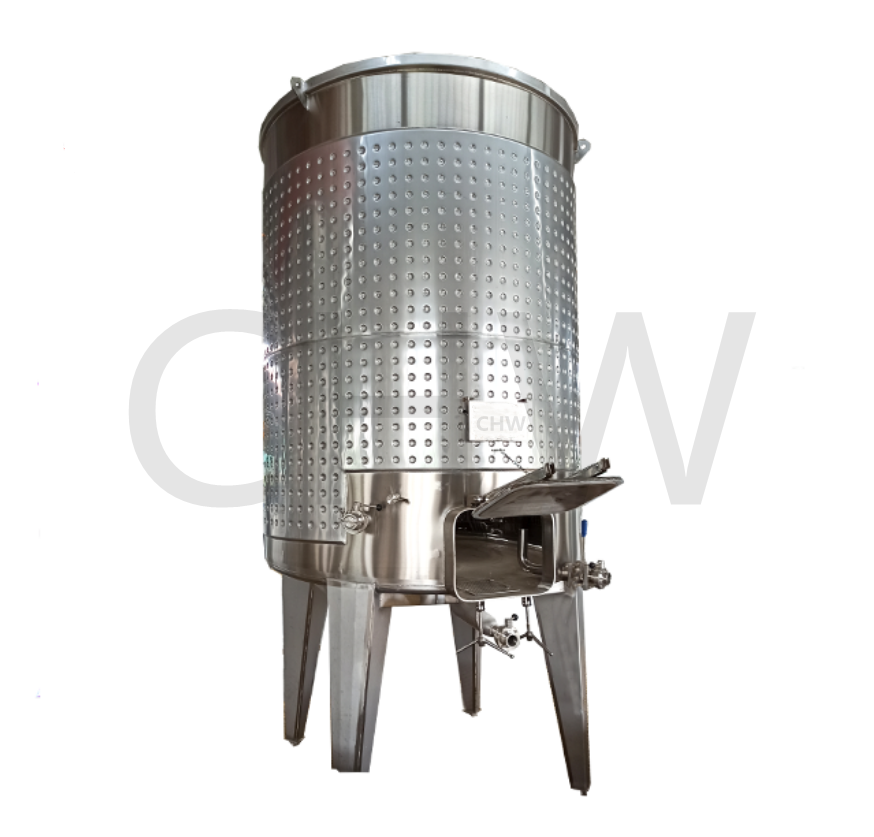 3000L popular glycol jacket wine fermenter sanitary stainless steel tank for winery
