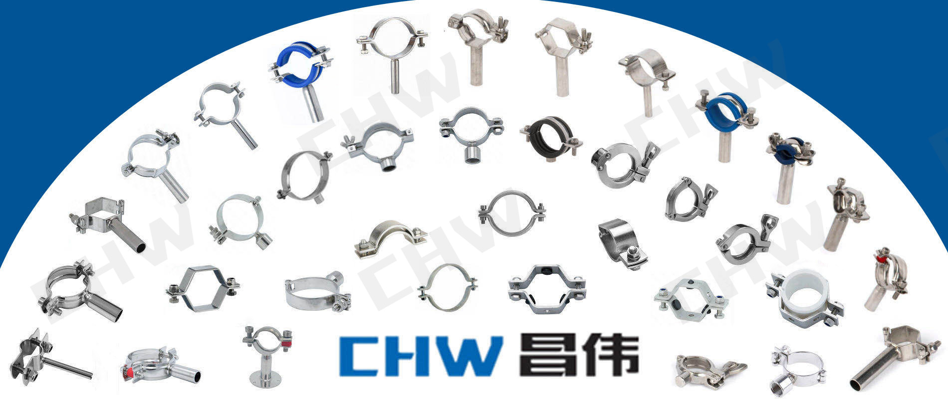 SS316L round stand down side of clamp