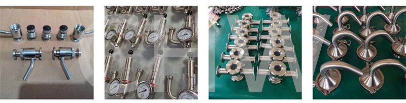 Sanitary Stainless steel round stand down side of clamp