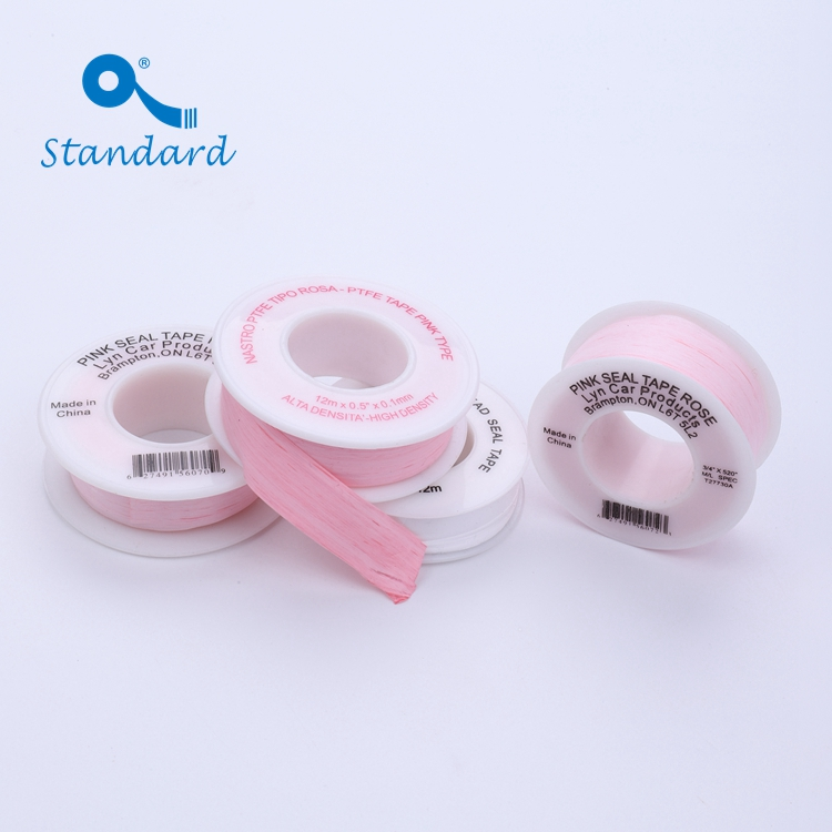 Pink PTFE threaded tape