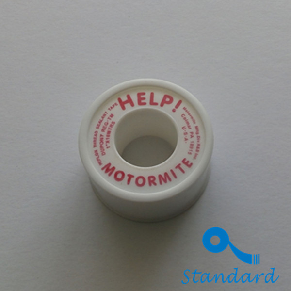 Yellow high density PTFE thread with gas pipe interface seal