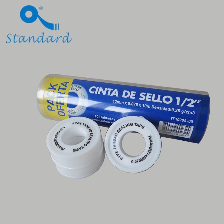 Tap seal PTFE thread tape