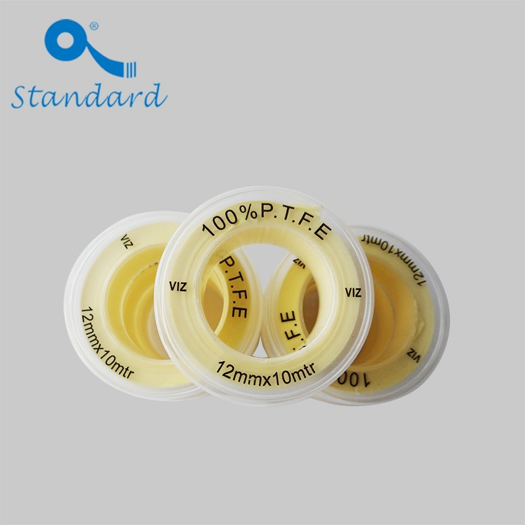 Fita roscada de vedação de tubo de PTFE amarelo
