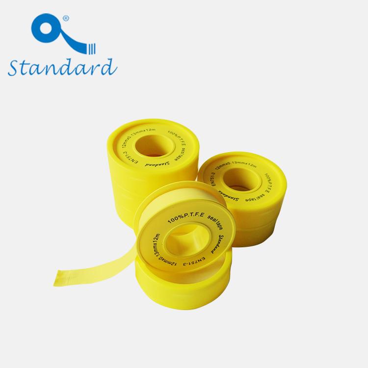 nastro sigillante per filettature in puro PTFE giallo