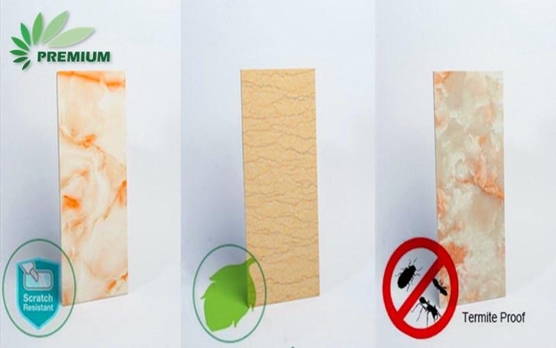 รายงานการทดสอบแผ่นหินอ่อน PVC เคลือบ UV