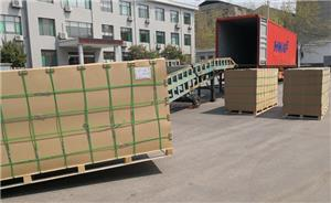 Premium High Glossy White PVC Foam Sheet Pallet Packing Delivery