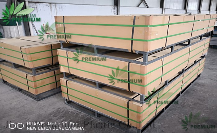 Gray And White Color PVC Rigid Boards Virgin Quality Sheets Delivery