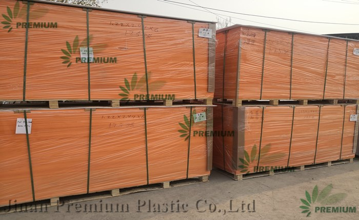 High Glossy Orange And White Color PVC Foam Board For Furniture Material