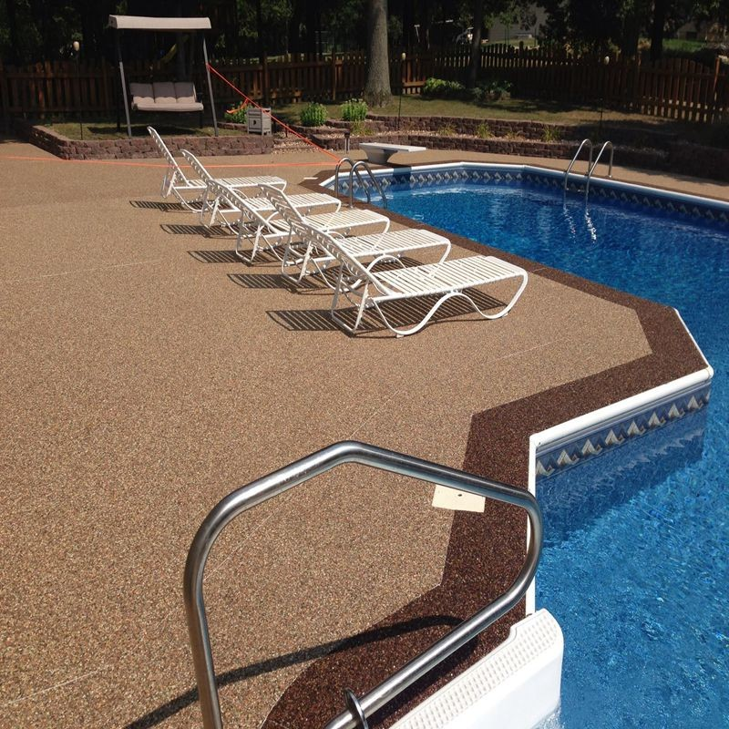 Water Permeable Epoxy Resin Pool Deck