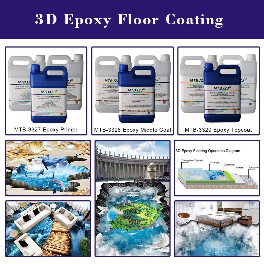 Anti Slip Epoxy 3D Floor For Home Floor Decoration