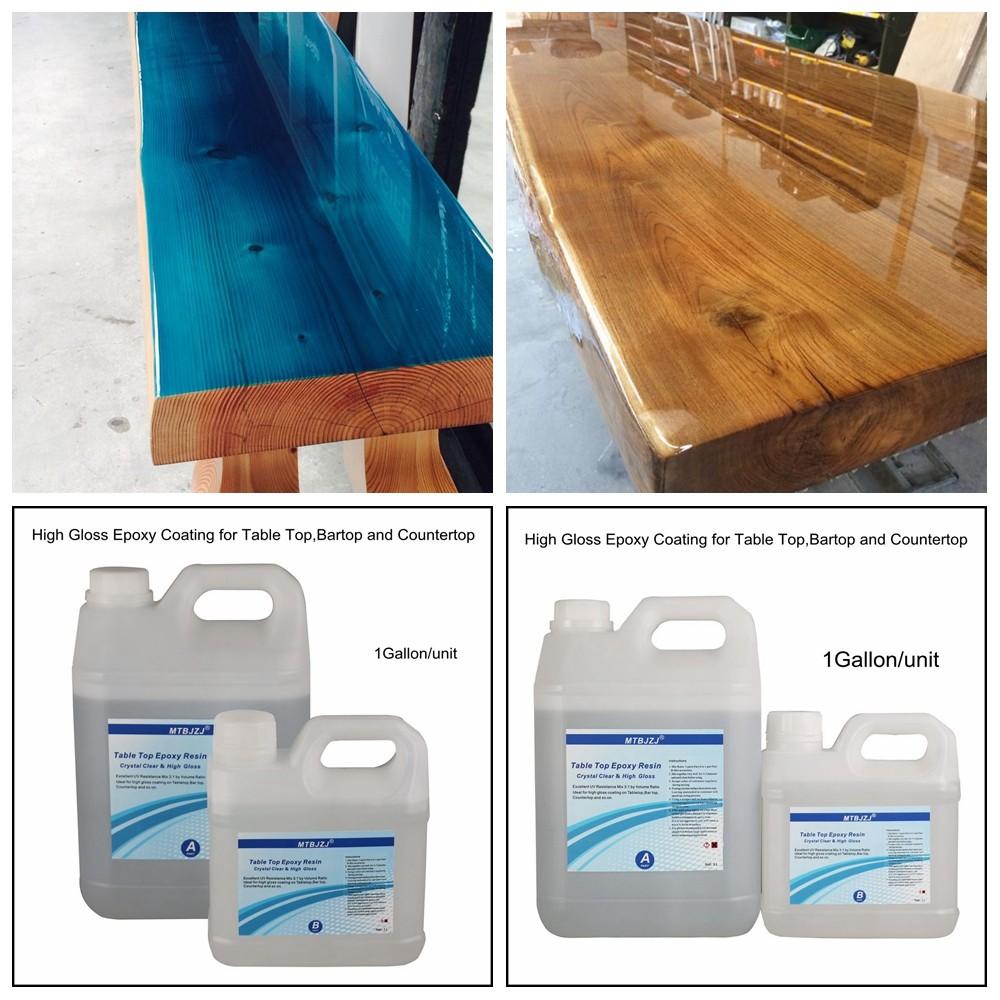 UV Resistant High Gloss Table Top Coat Epoxy