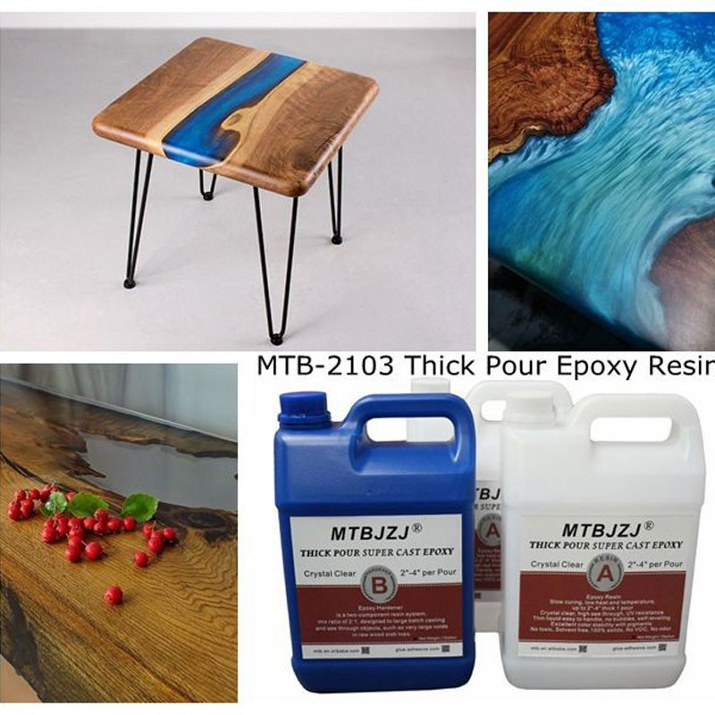 High Gloss Thick Pour River Table Epoxy Resin
