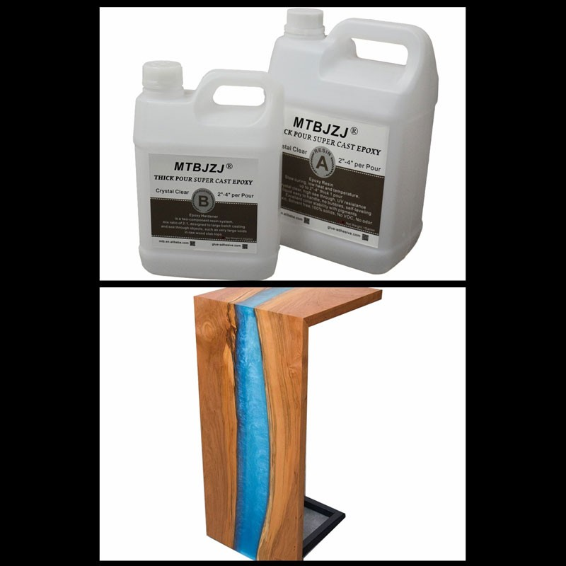 Color Pigment Deep Cast Wood Table River Epoxy Resin