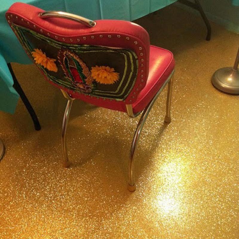 Scratch Resistant Glitter Epoxy Floor