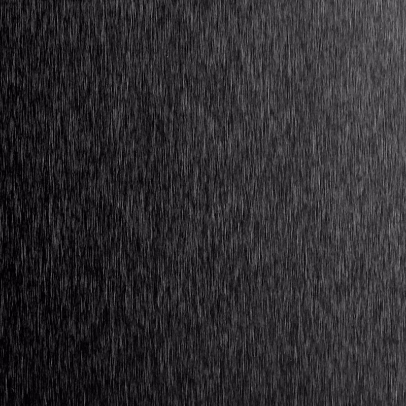 Black brushed aluminum sheet