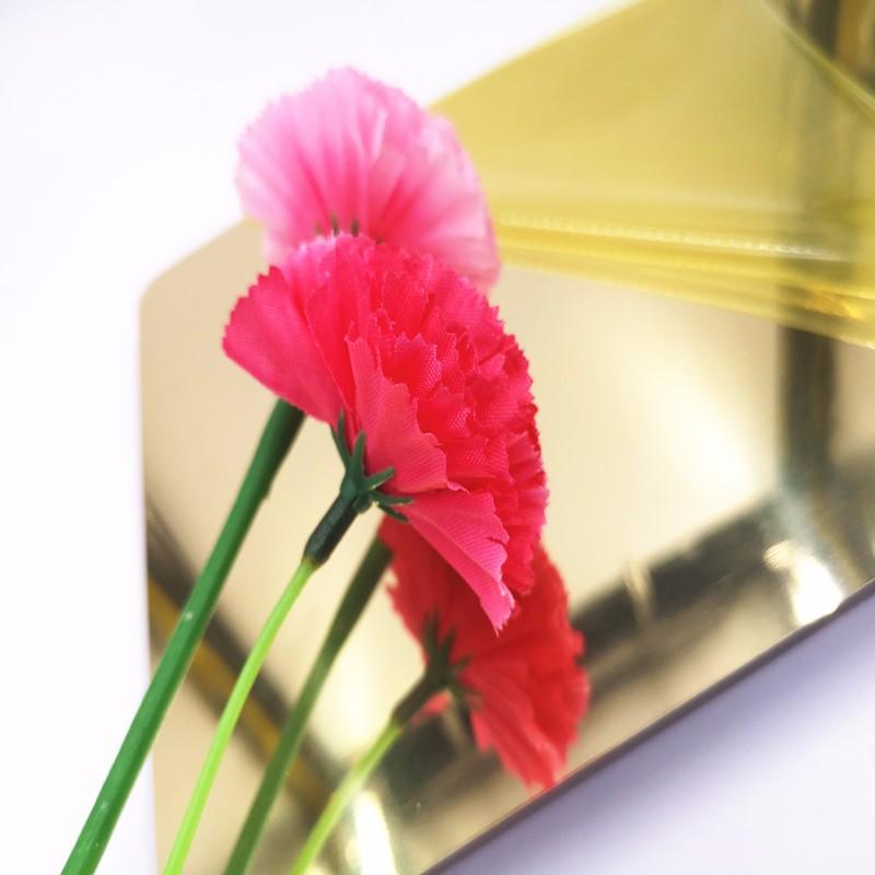 polished gold aluminum mirror sheet