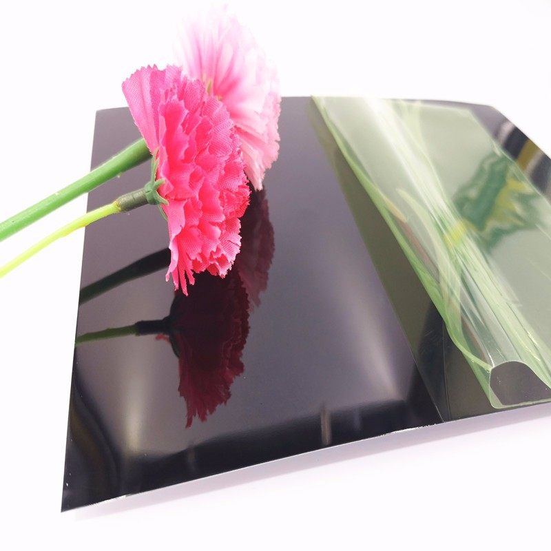 Black Colored Mirror Aluminum Sheet