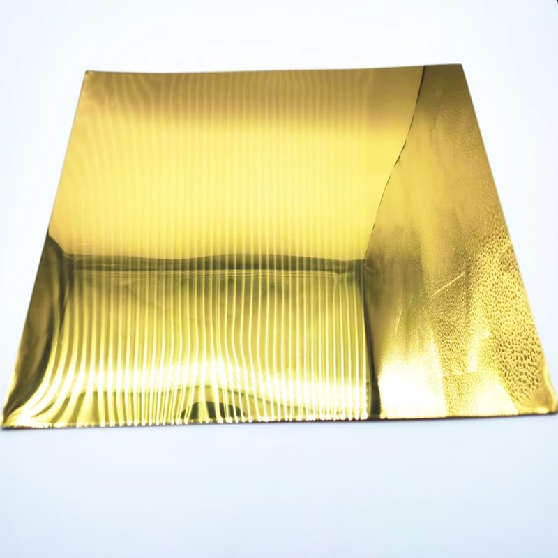polished gold aluminum mirror sheet