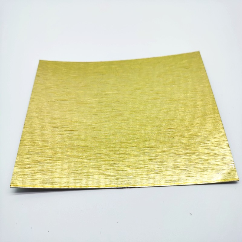 Brushed aluminum foil coil