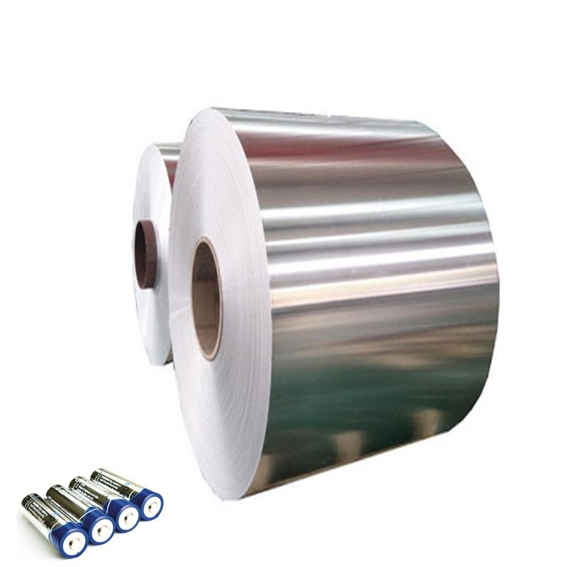 Aluminum foil for rechargeable battery