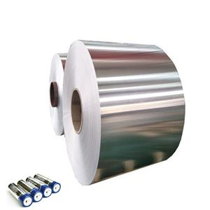 Aluminum foil for rechargeable battery
