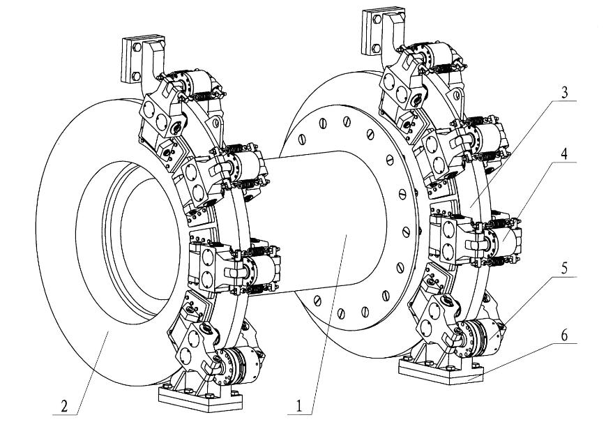 Disc brake actuating mechanism PSZ75B