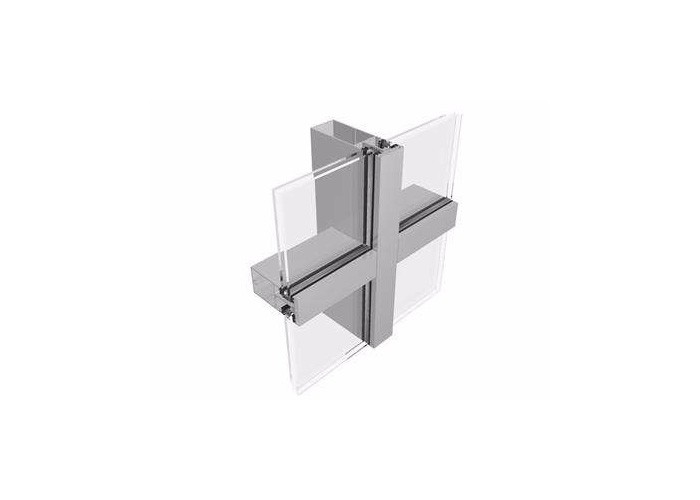 Building Exterior System Glazed Thermal Aluminium Glass Curtain Wall