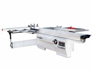 Sliding table saw with EU style table