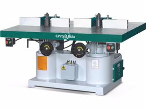 Heavy duty double head spindle moulder