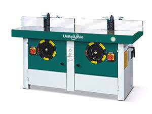 Double spindles shaper