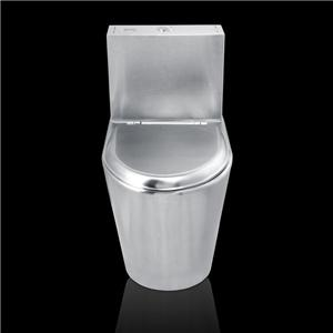 Stainless Steel Two Piece Toilet Bowl