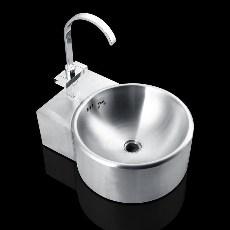 حوض غسيل معلق من الفولاذ المقاوم للصدأ