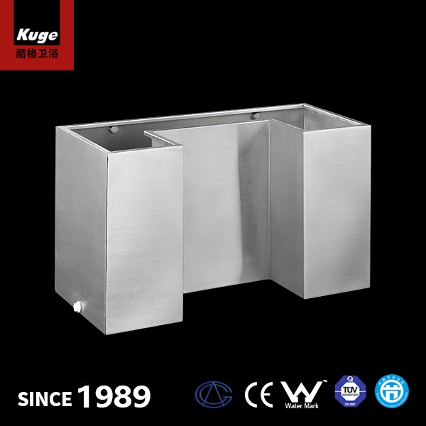 Cisterna de inodoro suspendida de acero inoxidable