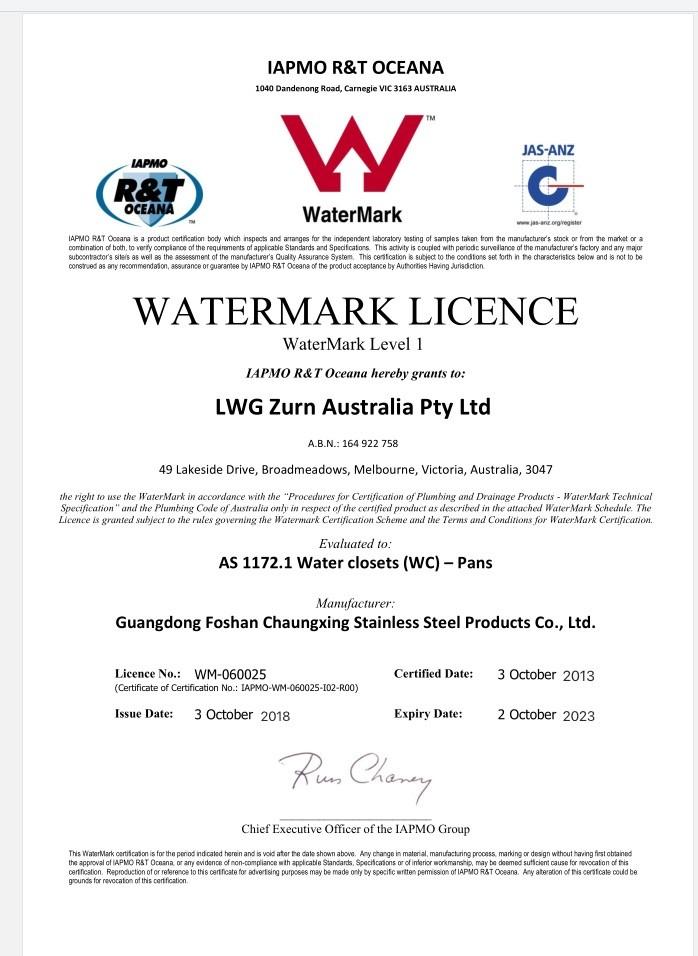 Watermark licence