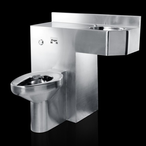 Stainless Steel One Piece Toilet Basin Combination