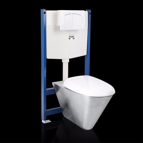 Stainless Steel Wall Hung Waterless Toilet