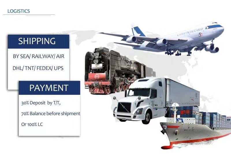 Payment before shippment 15 days by L/C or T/T, FOB/CIF/CFR