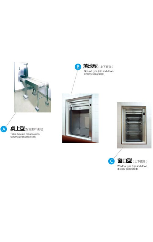 Small Food Elevator Dumbwaiter Used In Restaurant