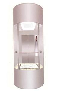 630-1600kg כיכר עגולה זכוכית מעלית פנורמית