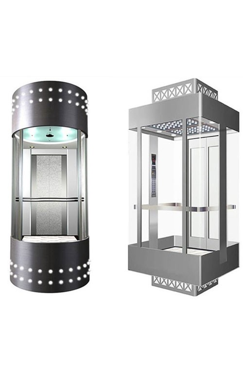 600-1000 KG Small Machine Room Stainless Glass
