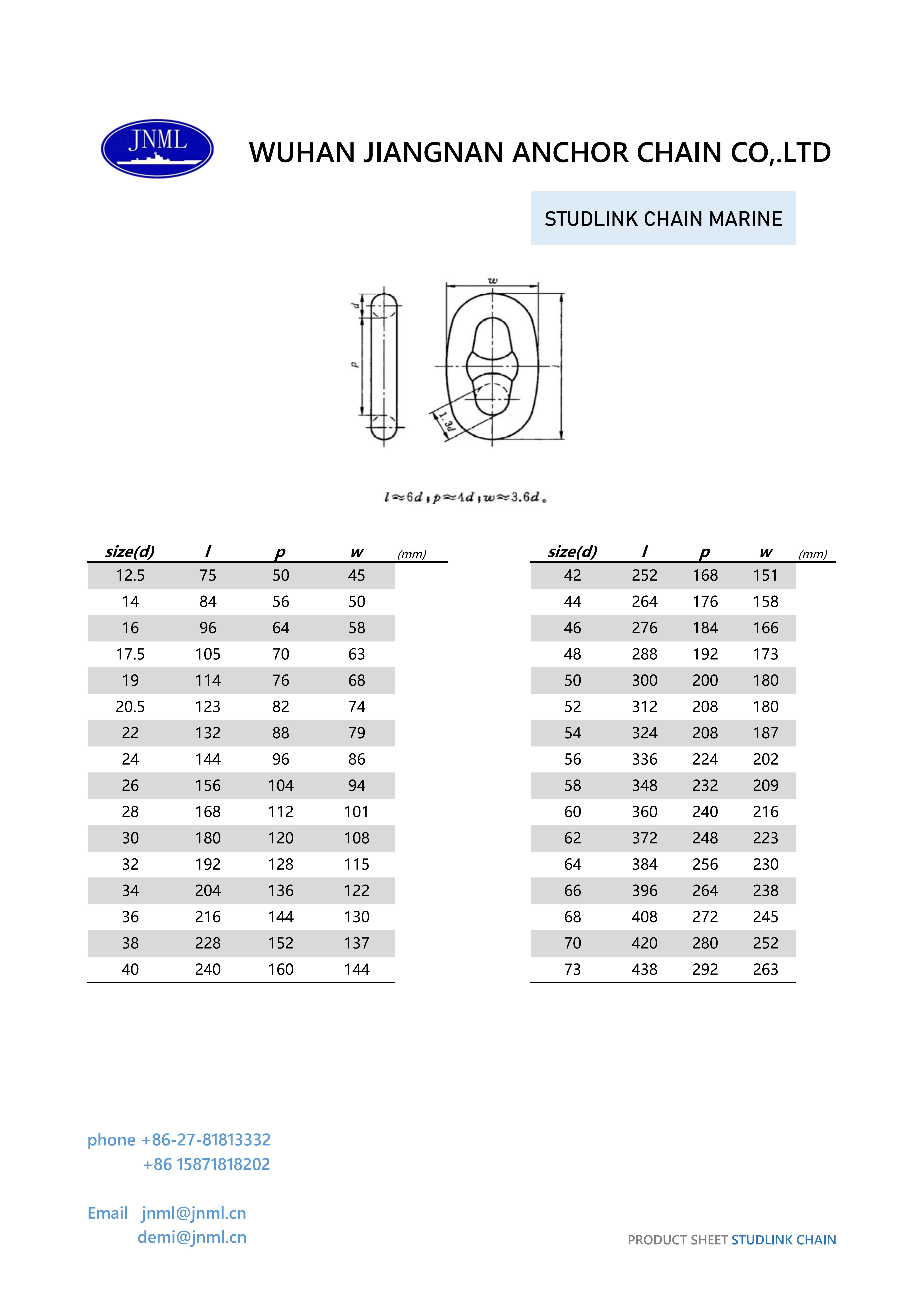 stud link marine anchor chain