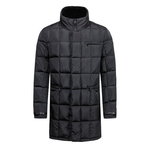 Мужской пуховик и стеганое зимнее длинное пальто