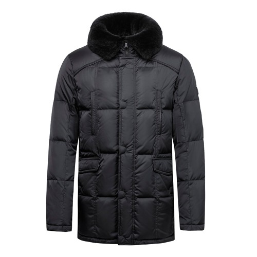 Men's Down Jacket and Coat Real Fur on Collar