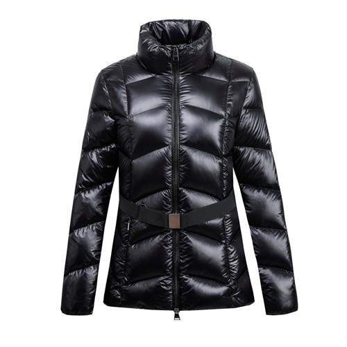 Casaco feminino com jaqueta e tecido de nylon