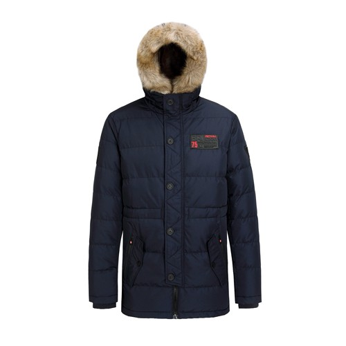 Men's Long Padded Jacket and Coat Faux Fur Outdoor Wear