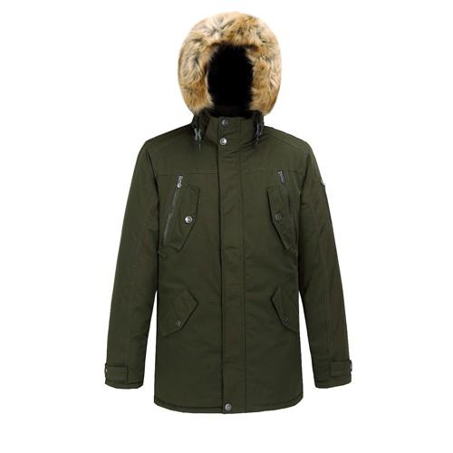 Men's Padded Long Jacket and Coat Faux Fur Outdoor Wear
